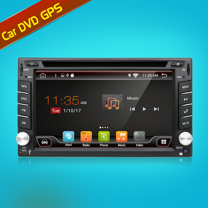 Quad Core 800*480 2 Din Android 7.1Fit NISSAN QASHQAI Tiida Araba ses Stereo Radyo GPS TV 3G WiFi dvd automotivo Evrensel DDR3